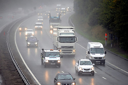 © Licensed to London News Pictures. 16/09/2015<br /> Heavy rain in Kent is making driving on the M25 dangerous for motorists<br /> Traffic between Orpington J4 and Swanley J3 in Kent. today (16.09.2015)<br /> <br /> (Byline:Grant Falvey/LNP)