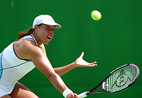 MELBOURNE, AUSTRALIA - JANUARY 20:  Alexandra Stevenson of USA in action against Marion Bartoli of France  during day two of the Australian Open. 20/01/2004, in Melbourne, Australia. (Photo by Lars Mueller/Sportsbeat) *** Local Caption *** Alexandra Stevenson
