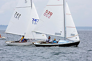 _V0A8097. ©2014 Chip Riegel / www.chipriegel.com. The 2014 Bullseye Class National Regatta, Fishers Island, NY, USA, 07/19/2014. The Bullseye is a Nathaniel Herreshoff designed 15' Marconi rig sailing boat.