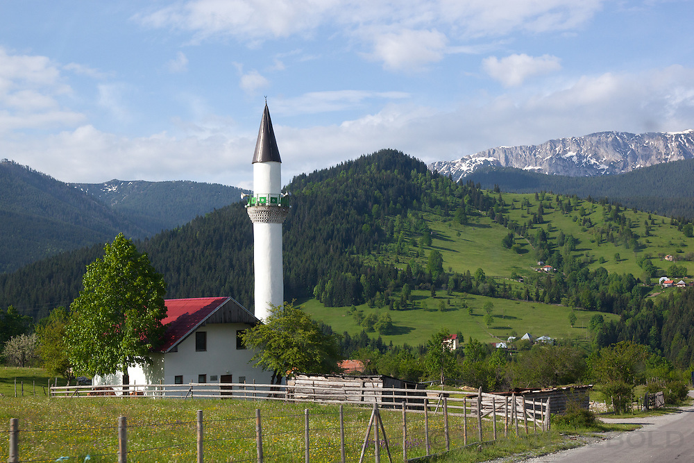 Mosque in the countryside of Montenegro.