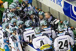 Rob Daum, head coach of EHC Liwest Linz, during ice-hockey match between HDD Tilia Olimpija and EHC Liwest Black Wings Linz at second match in Semifinal  of EBEL league, on March 8, 2012 at Hala Tivoli, Ljubljana, Slovenia. (Photo By Matic Klansek Velej / Sportida)