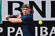 Foto Fabrizio Corradetti - LaPresse<br /> 13/05/2021 Roma ( Italia)<br /> Sport Tennis<br /> 3° turno<br /> Denis Shapovalov (CAN) vs Rafael Nadal (ESP)<br /> Internazionali BNL d'Italia 2021<br /> Nella foto: Denis Shapovalov<br /> <br /> Photo Fabrizio Corradetti - LaPresse<br /> 13/05/2021 Roma (Italy)<br /> Sport Tennis<br /> 3nd round<br /> Denis Shapovalov (CAN) vs Rafa Nadal (ESP)<br /> Internazionali BNL d'Italia 2021<br /> In the pic: Denis Shapovalov