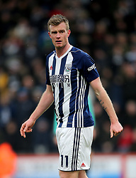 """West Bromwich Albion's Chris Brunt during the Premier League match at the Vitality Stadium, Bournemouth. PRESS ASSOCIATION Photo. Picture date: Saturday March 17, 2018. See PA story SOCCER Bournemouth. Photo credit should read: Mark Kerton/PA Wire. RESTRICTIONS: EDITORIAL USE ONLY No use with unauthorised audio, video, data, fixture lists, club/league logos or """"live"""" services. Online in-match use limited to 75 images, no video emulation. No use in betting, games or single club/league/player publications."""
