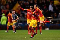 FOOTBALL - FRENCH CHAMPIONSHIP 2009/2010  - L1 - RC LENS v OLYMPIQUE MARSEILLE - 28/11/2009 - PHOTO JULIEN CROSNIER / DPPI - JOY EDUARDO (LEN)