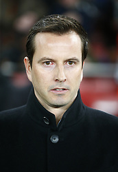 March 14, 2019 - London, England, United Kingdom - Julien Stephan manager of Rennes.during Europa League Round of 16 2nd Leg  between Arsenal and Rennes at Emirates stadium , London, England on 14 Mar 2019. (Credit Image: © Action Foto Sport/NurPhoto via ZUMA Press)