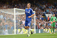 Nemanja Matic of Chelsea looking on. Barclays Premier League, Chelsea v Crystal Palace at Stamford Bridge in London on Saturday 29th August 2015.<br /> pic by John Patrick Fletcher, Andrew Orchard sports photography.