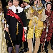 NLD/Amsterdam/20120209 - Bn' ers gefotografeerd als de Nachtwacht voor het Goed Geld Gala 2012,, Irene Moors, Loes Luca, Boris Dittrich