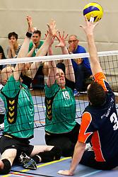 20150425 NED: NK Zitvolleybal 2015, Mill<br />Stefan Tibben (9) of VV Alterno, Anne Raben (19) of VV Alterno<br />©2015-FotoHoogendoorn.nl / Pim Waslander