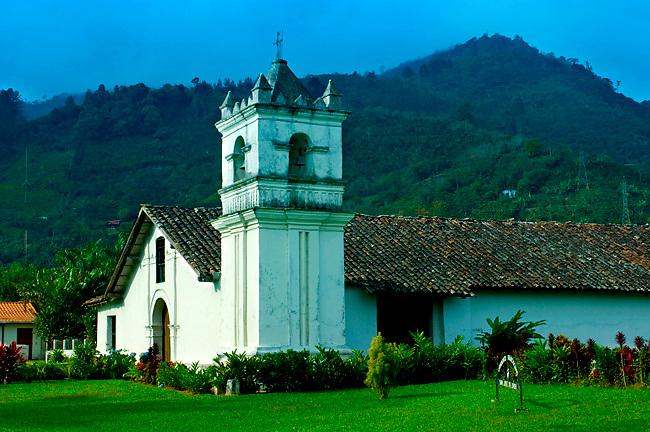 Costa Rica, Orosi, Iglesia de San Jose de Orosi, Built in 1743, Oldest Church In Use, Orosi Valley, Spanish Colonial Architecture,<br /> National Monument