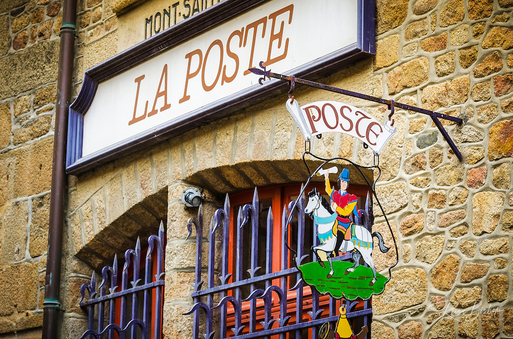 Post office, Mont Saint-Michel, Normandy, France