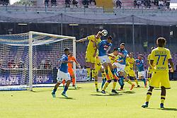 April 8, 2018 - Napoli, Napoli, Italy - Naples - Italy 08/04/2018.MAREK HAMSIK of  S.S.C. NAPOLI   and RIGONI NICOLA of CHIEVO VERONA  fights for the ball during SERIE A TIM  match between S.S.C. NAPOLI and CHIEVO VERONA  at Stadio San Paolo of Naples..Final scores S.S.C. NAPOLI - CHIEVO VERONA 2-1  (Credit Image: © Emanuele Sessa/Pacific Press via ZUMA Wire)