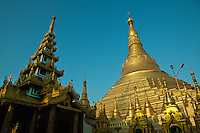 Shwedagon Pagoda officially titled Shwedagon Zedi Daw also known in English as the Great Dagon Pagoda and the Golden Pagoda, is a 99 metres or 325ft gilded pagoda and stupa located in Yangon. The pagoda lies to the west of Kandawgyi Lake, on Singuttara Hill dominating the skyline of the city. It is the most sacred Buddhist pagoda for the Burmese with relics of eight strands of hair of Gautama, the historical Buddha.  Shwedagon Pagoda has existed for more than 2,500 years, making it the oldest historical pagoda in Burma and the world. According to tradition, two merchant brothers, Taphussa and Bhallika, from the land of Ramanya, met the Lord Gautama Buddha during his lifetime and received eight of the Buddha's hairs.