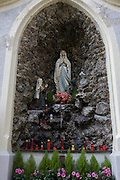 Virgin Mary shrine in the kloister of San Michele in the Italian border town of Brixen-Bressanone in South Tyrol.