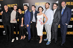 "(L-R) ""Preacher"" Cast & Crew - Pip Torrens, Joseph Gilgun, Ruth Negga, Dominic Cooper, Ian Colletti, Julie Ann Emery, Evan Goldberg, Seth Rogen and Graham McTavish at AMC's ""Preacher"" Season 2 Premiere Screening held at the Theater at the Ace Hotel in Los Angeles, CA on Tuesday, June 20, 2017.  (Photo By Sthanlee B. Mirador) *** Please Use Credit from Credit Field ***"