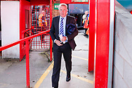 Portsmouth Manager Kenny Jackett arrives during the EFL Sky Bet League 1 match between Accrington Stanley and Portsmouth at the Fraser Eagle Stadium, Accrington, England on 27 October 2018.