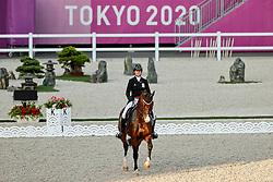 TOKYO - Olympische Spiele / Olympic Games 2021<br /> <br /> ROOS Laurence (BEL), Fil Rouge<br /> Grand Prix de Dressage<br /> <br /> Tokio, Equestrian Park<br /> 25. July 2021<br /> © www.sportfotos-lafrentz.de/Stefan Lafrentz