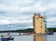 Glasgow, Scotland, Friday, 3rd  August 2018, General View, of the, Course  Finish Tower, European Games, Rowing, Strathclyde Park, North Lanarkshire, © Peter SPURRIER/Alamy Live News