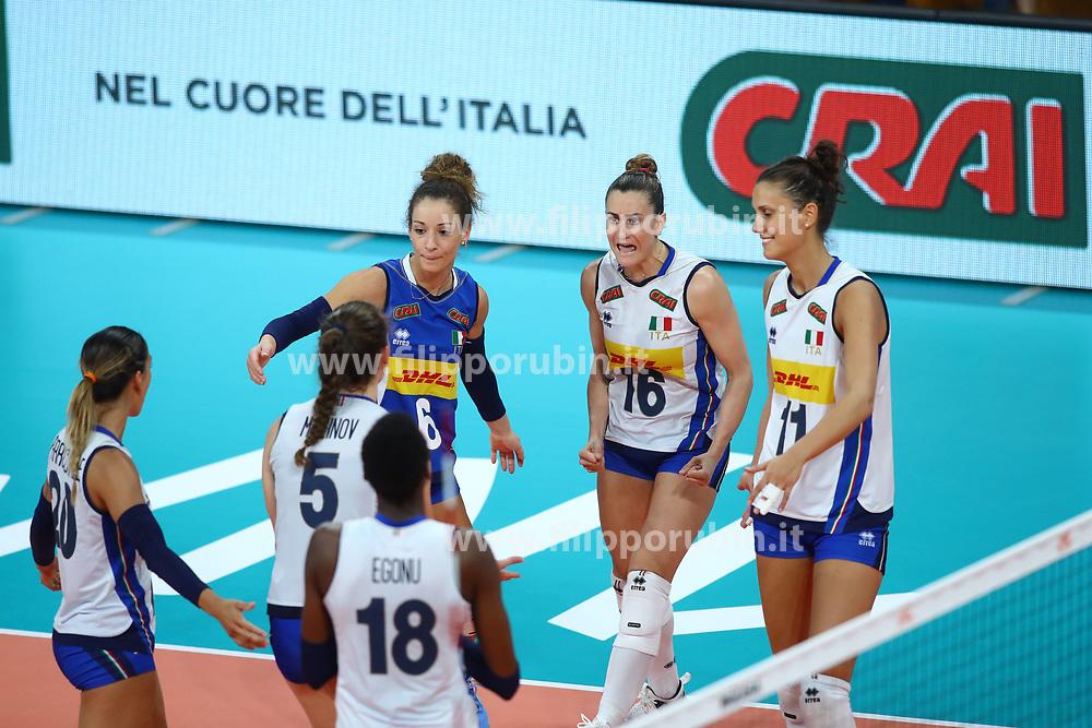 L'ITALIA ESULTA<br /> ITALIA - KOREA<br /> PALLAVOLO VNL VOLLEY PERUGIA <br /> PERUGIA 12-06-2019<br /> FOTO GALBIATI - RUBIN