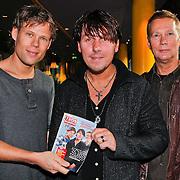 NLD/Hilversum/20110126 - Interview 3 J's tijdens Tros Gouden Uren, Jaap Kwakman, Jan Dulles, Jaap de Witte met de Tros Kompas