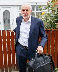 © Licensed to London News Pictures. 05/09/2018. London, UK. Leader of Labour Party JEREMY CORBYN leaves his home in north London on Wednesday, 5 September 2018, the day after Labourís ruling body has agreed to adopt the International Holocaust Remembrance Allianceís definition of antisemitism. Photo credit: Tolga Akmen/LNP