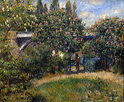 Le Pont de Chemin de Fer a Chatou'  (The Railway  Bridge at Chatou):  Pierre August Renoir (1841-1919) French painter . Oil on canvas.