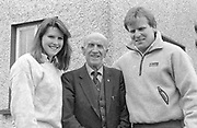 "Mackey O""Shea gets a civic reception by Killarney UDC chairman Maurice O'Donoghue in 1989.<br /> Killarney Now & Then - MacMONAGLE photo archives.<br /> Picture by Don MacMonagle -macmonagle.com"