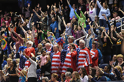 March 2, 2019 - Greensboro, North Carolina, US - Fans cheer during the competition at the Greensboro Coliseum in Greensboro, North Carolina. (Credit Image: © Amy Sanderson/ZUMA Wire)