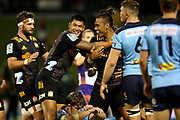 Chiefs celebrate the Sean Wainui try. Waratahs vs Chiefs. Super Rugby round 6 match played at WIN Stadium, Wollongong NSW on Friday 6 March 2020. Photo Clay Cross / photosport.nz