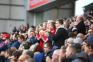 The Nottingham Forest fans applaud their team during the EFL Sky Bet Championship match between Nottingham Forest and Burton Albion at the City Ground, Nottingham, England on 21 October 2017. Photo by John Potts.