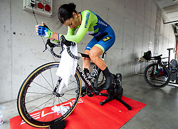Eugenia Bujak of Slovenia warming up during Women Time Trial at UCI Road World Championship 2020, on September 24, 2020 in Imola, Italy. Photo by Vid Ponikvar / Sportida