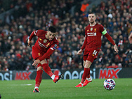 Alex Oxlade-Chamberlain of Liverpool shoots during the UEFA Champions League match at Anfield, Liverpool. Picture date: 11th March 2020. Picture credit should read: Darren Staples/Sportimage