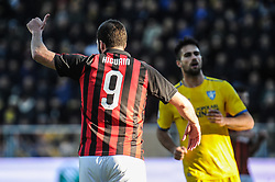December 26, 2018 - Frosinone, Italy - Gonzalo Higuain of AC Milan reacts during the Serie A match between Frosinone Calcio and AC Milan at Stadio Benito Stirpe on December 26, 2018 in Frosinone, Italy. (Credit Image: © Federica Roselli/NurPhoto via ZUMA Press)