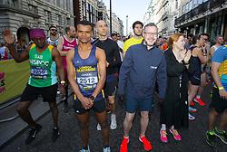 Competitors at the start line during the 2019 London Landmarks Half Marathon.