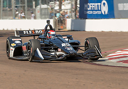March 9, 2019 - St. Petersburg, FL, U.S. - ST. PETERSBURG, FL - MARCH 09: Ed Carpenter Racing driver Jordan King (20) of Great Britain during the NTT IndyCar Series - Firestone Grand Prix Qualifying on March 9 in St. Petersburg, FL. (Photo by Andrew Bershaw/Icon Sportswire) (Credit Image: © Andrew Bershaw/Icon SMI via ZUMA Press)