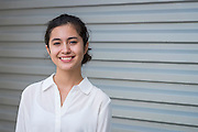 Alexia Rodriguez poses for a photograph at East Early College High School, September 30, 2014.