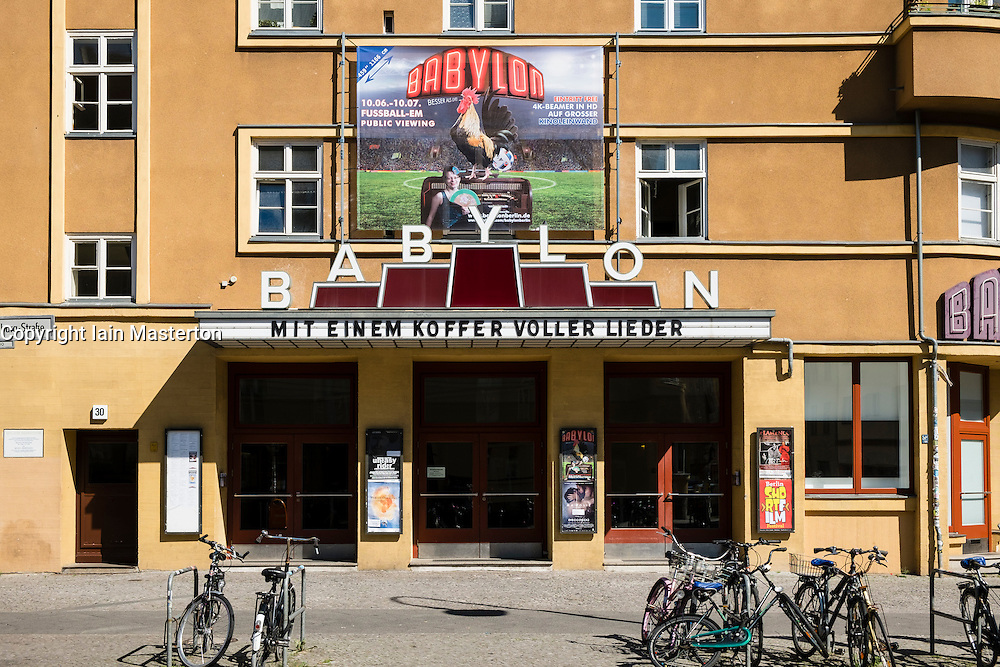 Exterior of old Babylon cinema in Mitte Berlin Germany