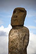Moai at Tongariki Beach Easter Island, Chile