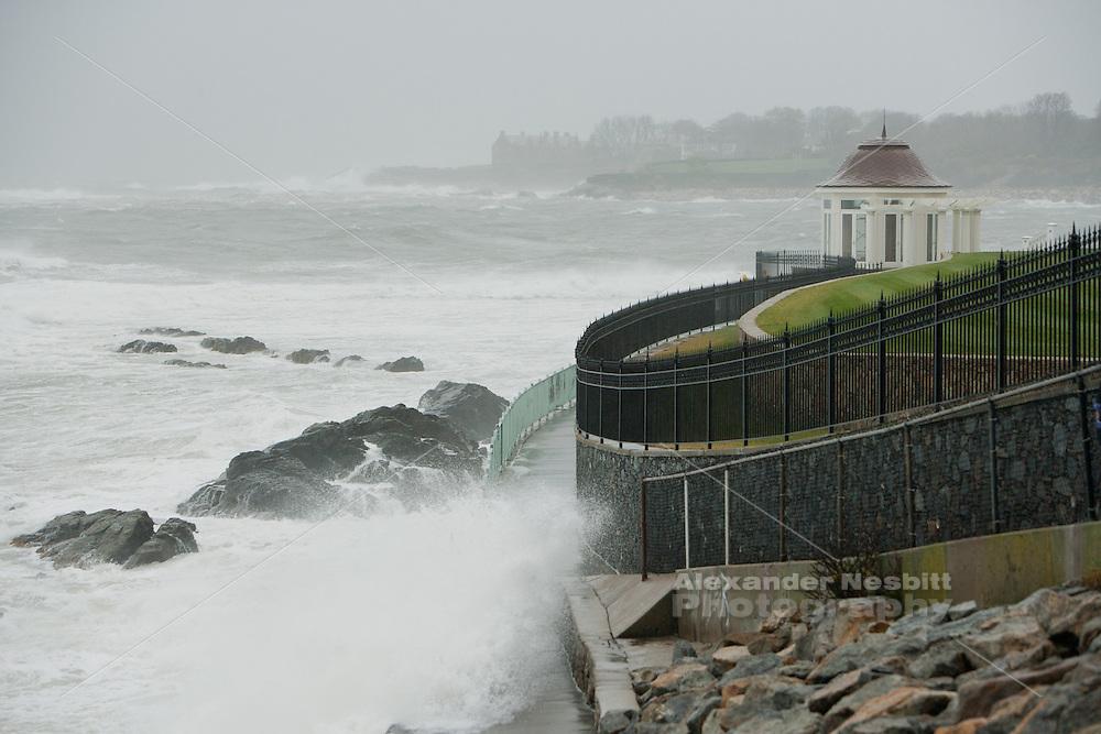 Newport, RI - Cliff walk in super storm Sandy