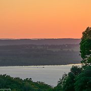 Lake Bellaire Sunset Viewed From Shanty Creek Resort In Bellaire Michigan