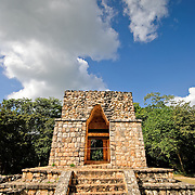 The Entrance Arch at the ancient Mayan ruins at Ek'Balam, near Valladolid, Yucatan, Mexico
