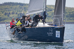 Pelle P Kip Regatta 2019 Day 1<br /> <br /> Light and bright conditions for the opening racing on the Clyde keelboat season<br /> <br /> GBR4822R, El Gran Senor, Jonathan Anderson, CCC, J122E