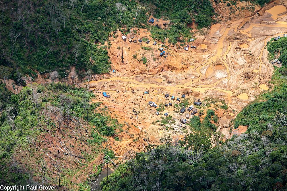 Fea0093883. DT News.Tananarive a mining village near AMBATONDRAZAKA,The Ankeniheny-Zahamena Corridor, Madagascar.Pic Shows an aeria view of Tananarive