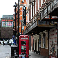 Gielgud Theatre and Raymond Revue bar;<br />Theatres in lockdown;<br />West End Theatreland, London, UK;<br />7th July 2020.<br /><br />© Pete Jones<br />pete@pjproductions.co.uk
