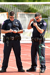 01 October 2016:  Bloomington Police Officers during an NCAA division 3 football game between the Wheaton Thunder and the Illinois Wesleyan Titans in Tucci Stadium on Wilder Field, Bloomington IL (Photo by Alan Look)