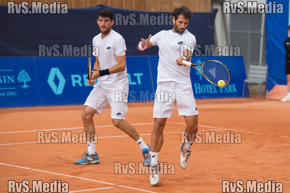 GSTAAD, SWITZERLAND JULY 26: Franko Skugor (CRO) and Jonathan Eysseric (FRA) during the ATP J.Safra Sarasin Swiss Open Gstaad. (Monika Majer/RvS.Media)