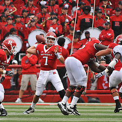 Sep 12, 2009; Piscataway, NJ, USA;  Rutgers quarterback Tom Savage (7) throws a pass to wide receiver Tim Brown (not pictured) during the first half of Rutgers' 45-7 victory over Howard in NCAA College Football at Rutgers Stadium.