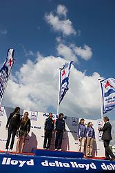 Medemblik - the Netherlands, May 31th 2009. Delta Lloyd Regatta in Medemblik (27/31 May 2009). Day 5, Medal races. 470 Women podium.