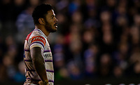 Leicester Tigers Manu Tuilagi<br /> <br /> Photographer Bob Bradford/CameraSport<br /> <br /> Gallagher Premiership Round 11 - Bath Rugby v Leicester Tigers - Sunday 30th December 2018 - The Recreation Ground - Bath<br /> <br /> World Copyright © 2018 CameraSport. All rights reserved. 43 Linden Ave. Countesthorpe. Leicester. England. LE8 5PG - Tel: +44 (0) 116 277 4147 - admin@camerasport.com - www.camerasport.com