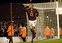 Photo: Leigh Quinnell.<br /> Arsenal v Portsmouth. The Barclays Premiership.<br /> 28/12/2005. Thierry Henry celebrates scoring his penalty for Arsenal.