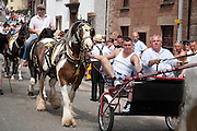 The to-ing and fro-ing of horses and harnesses along The Sands road at Appleby horse fair.
